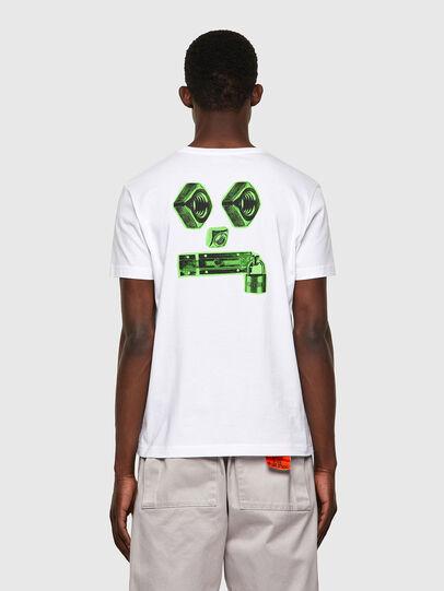 Diesel - T-DIEGOS-B4, Bianco - T-Shirts - Image 2