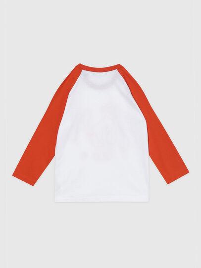 Diesel - TBALYB-R, Bianco/Arancione - T-shirts e Tops - Image 2
