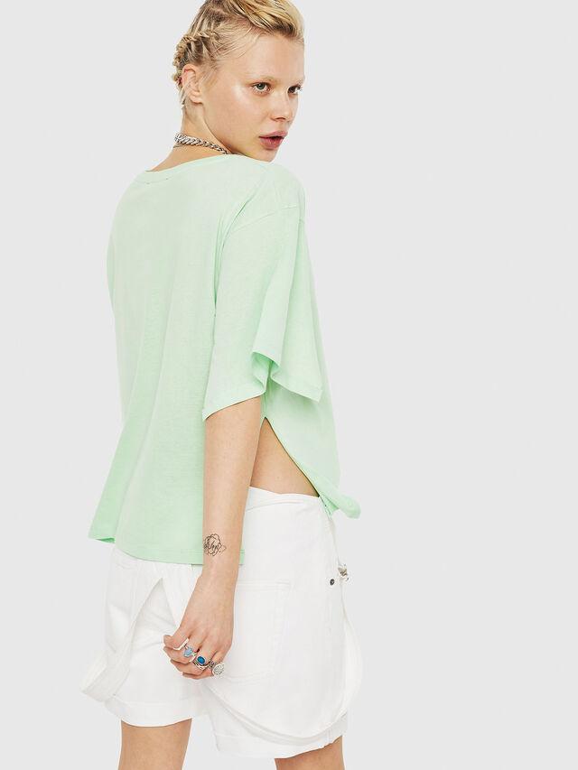 Diesel - T-JACKY-D, Verde Fluo - T-Shirts - Image 2