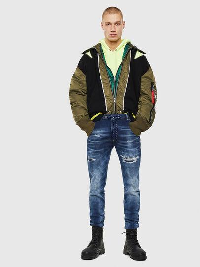Diesel - Krooley JoggJeans 0097N, Blu Scuro - Jeans - Image 5