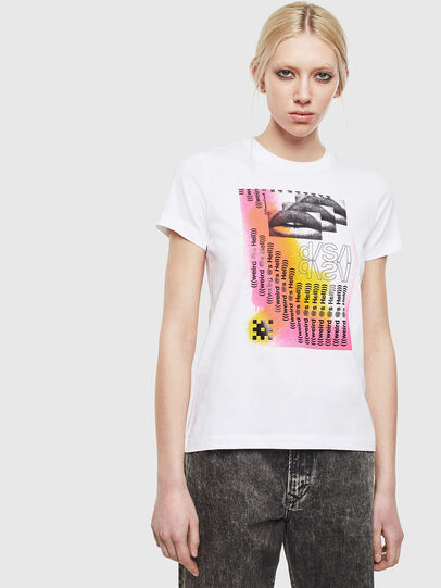 Diesel - T-SILY-S5, Bianco - T-Shirts - Image 1