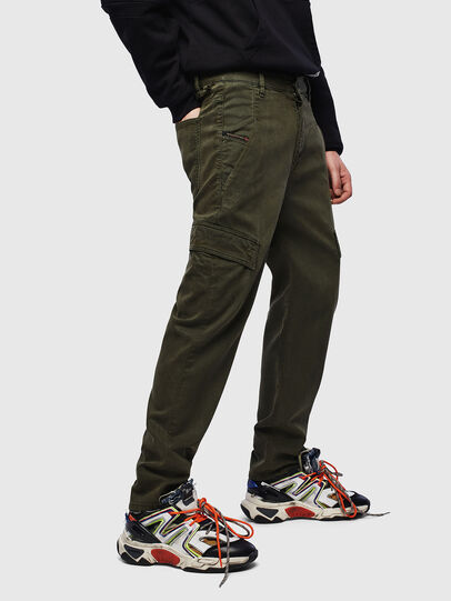 Diesel - D-Krett JoggJeans® 069LX, Verde Militare - Jeans - Image 4
