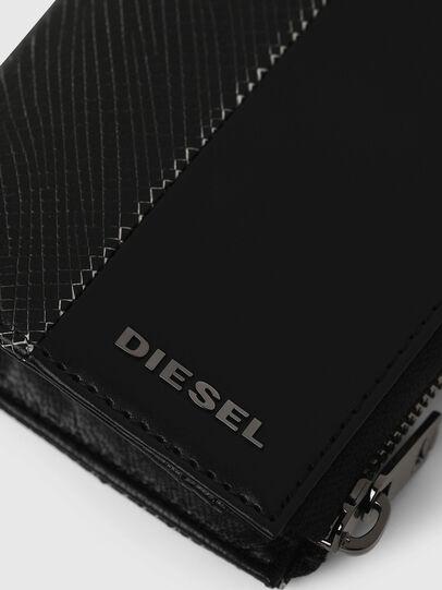 Diesel - L-12 ZIP, Nero/Bianco - Portafogli Con Zip - Image 4