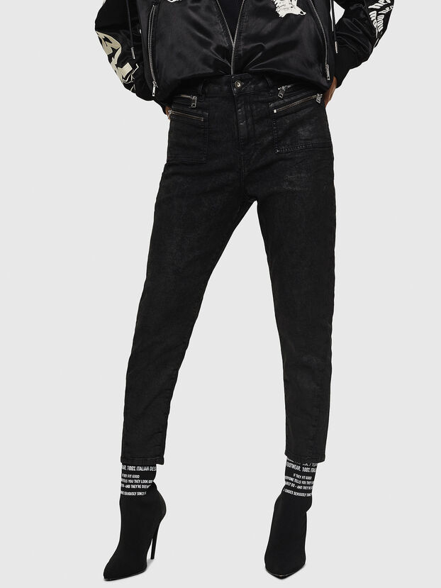 D-Eifault JoggJeans 084AG, Nero/Grigio scuro - Jeans