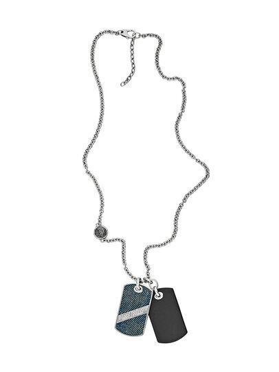 Diesel - NECKLACE DX1031, Blu Jeans - Collane - Image 1