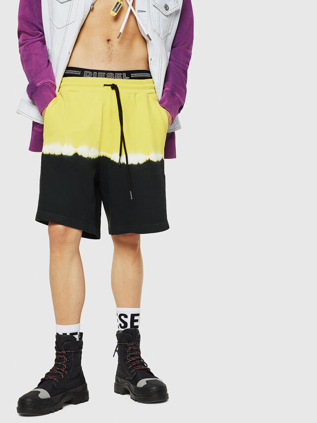 Diesel - P-TOX-DEEP, Nero/Giallo - Shorts - Image 1