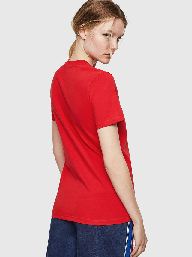 Diesel - T-SILY-ZE, Rosso Fuoco - T-Shirts - Image 2