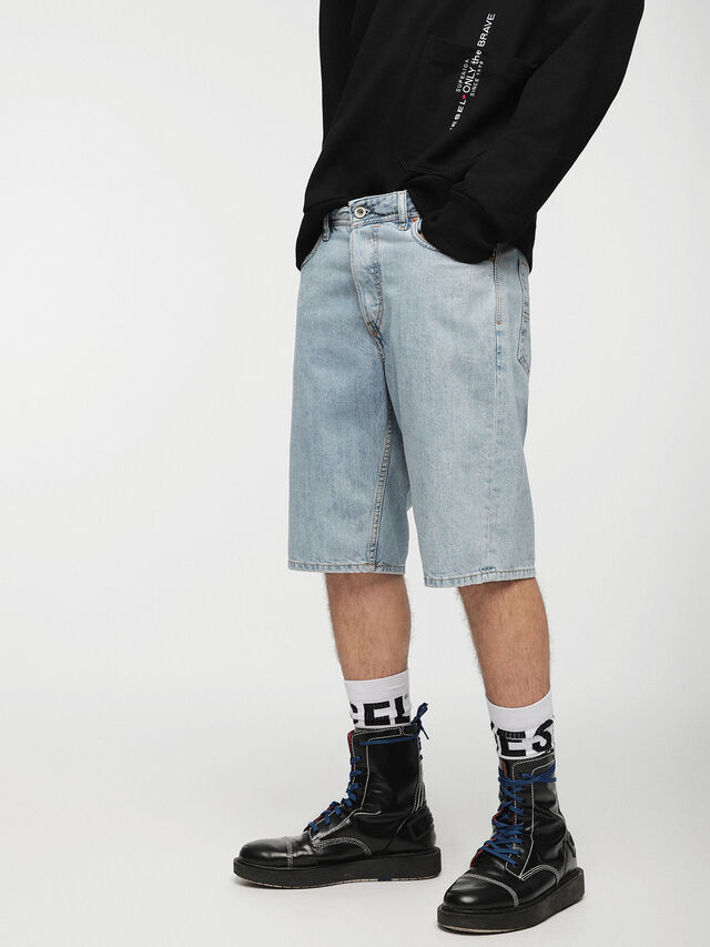 Diesel - KEESHORT, Blu Chiaro - Shorts - Image 1
