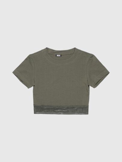 Diesel - UFTEE-GIORGMESH-SV, Verde Militare - T-Shirts - Image 1