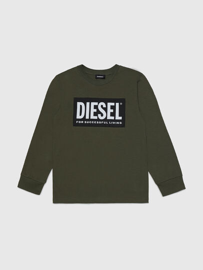 Diesel - TUSTY ML, Verde Militare - T-shirts e Tops - Image 1