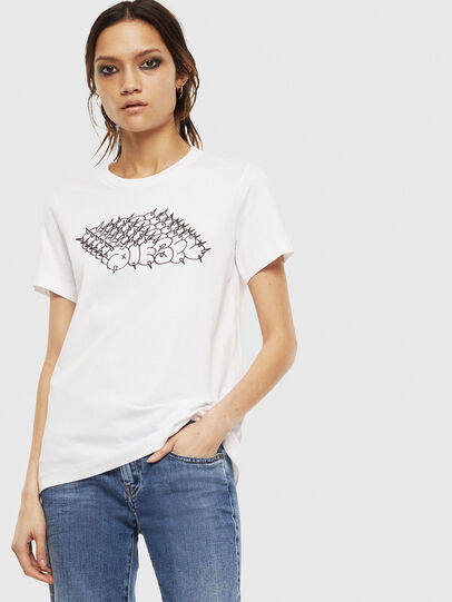 Diesel - T-SILY-S6, Bianco - T-Shirts - Image 1