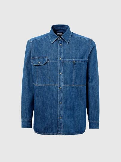 Diesel - D-MILLY-SP, Blu medio - Camicie in Denim - Image 5