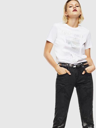 Diesel - T-SILY-YB, Bianco - T-Shirts - Image 5