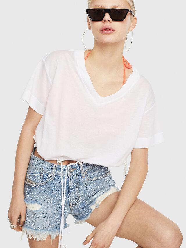 Diesel - T-ELISY-A, Bianco - T-Shirts - Image 1