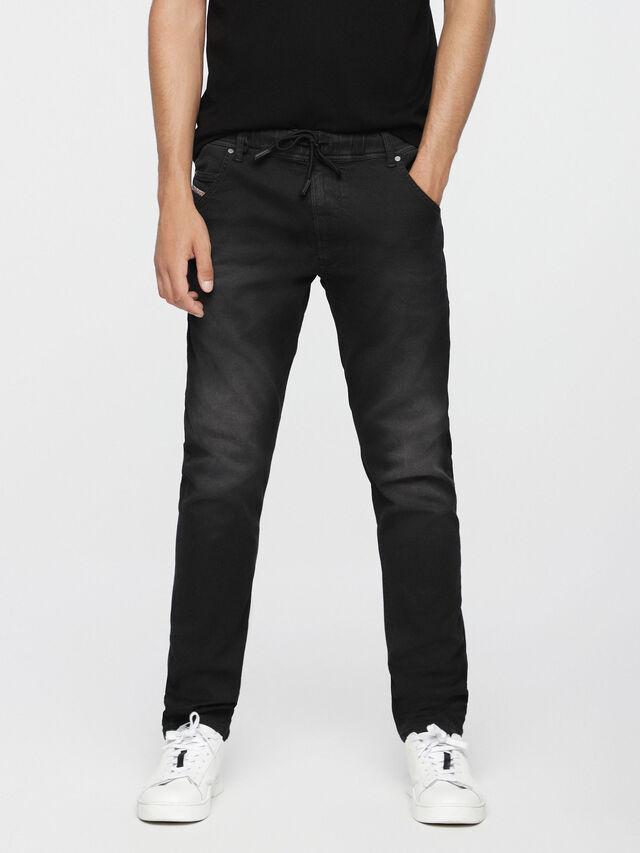 Diesel - Krooley JoggJeans 0670M, Nero Jeans - Jeans - Image 1