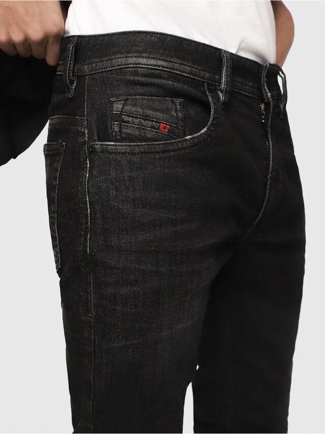 Diesel - Thommer JoggJeans 0077U, Nero/Grigio scuro - Jeans - Image 3