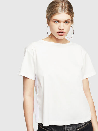 Diesel - T-RYLY, Bianco - T-Shirts - Image 1