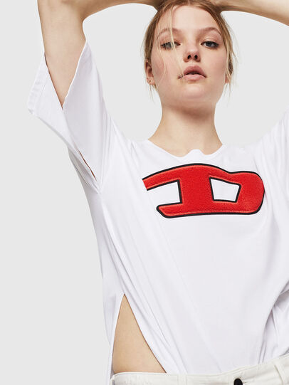 Diesel - T-JACKY-I, Panna - T-Shirts - Image 4