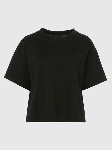 T-shirt dal taglio boxy in cotone mercerizzato