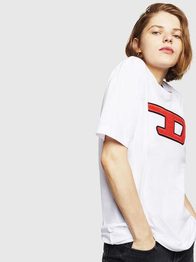 Diesel - T-JUST-DIVISION-D-FL, Bianco - T-Shirts - Image 5