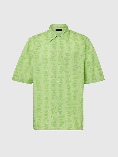 Diesel - S-ROHAD-C, Verde - Camicie - Image 1