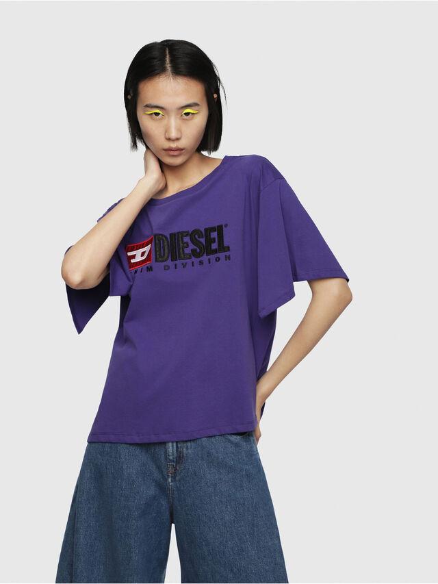 Diesel - T-JACKY-D, Viola - T-Shirts - Image 1