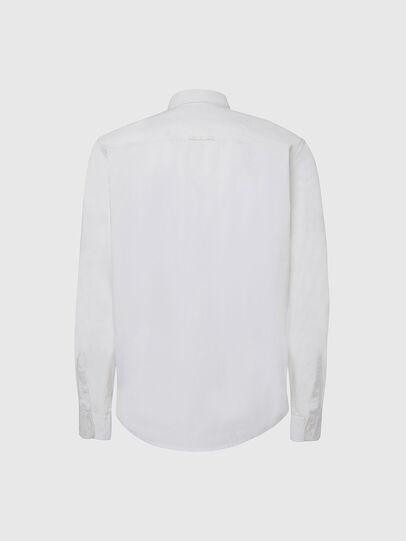 Diesel - S-ALLEN-KA, Bianco - Camicie - Image 2