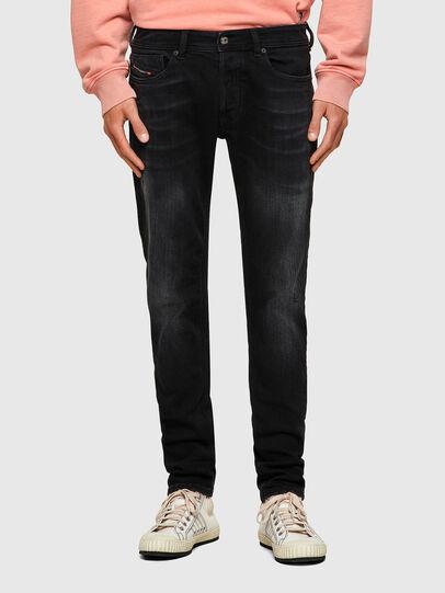 Diesel - Sleenker 0092B, Nero/Grigio scuro - Jeans - Image 1
