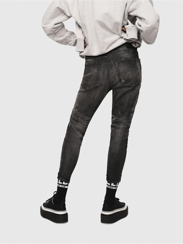 Diesel - Candys JoggJeans 0077S, Nero/Grigio scuro - Jeans - Image 2