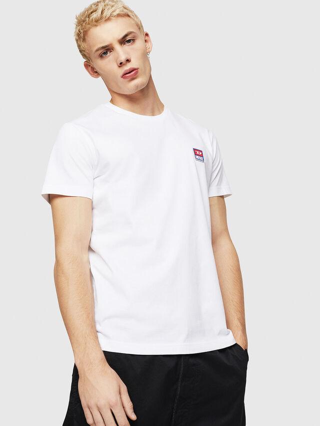 Diesel - T-DIEGO-DIV, Bianco - T-Shirts - Image 1