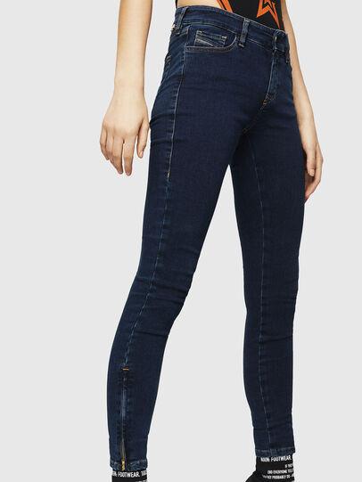 Diesel - Slandy Zip 083AM, Blu Scuro - Jeans - Image 4