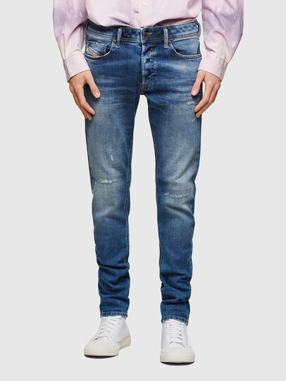 Diesel - Sleenker 009PN, Blu medio - Jeans - Image 1