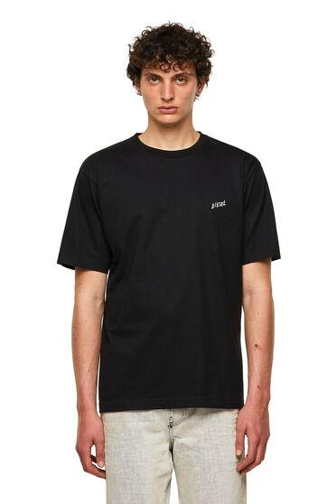 T-shirt in cotone con stampa di palme