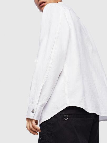 Diesel - D-FLOX, Bianco - Camicie in Denim - Image 5