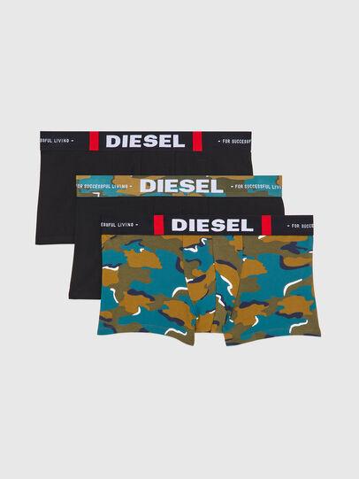 Diesel - UMBX-DAMIENTHREEPACK, Nero/Verde - Boxer stretch - Image 1