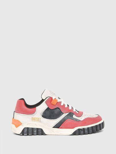 Diesel - S-RUA LOW SK, Bianco/Rosso - Sneakers - Image 1