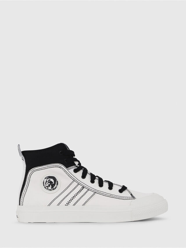 Diesel - S-ASTICO MID LACE, Bianco/Nero - Sneakers - Image 1
