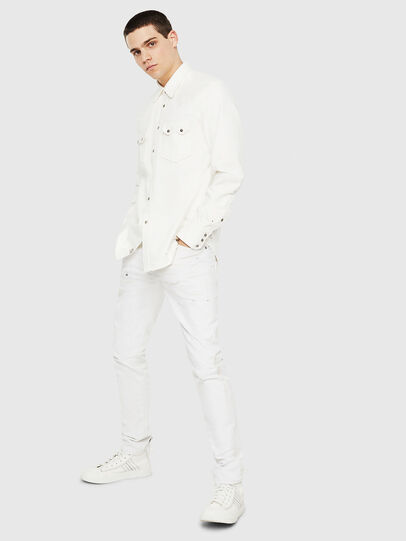 Diesel - D-LEO, Bianco - Camicie in Denim - Image 5