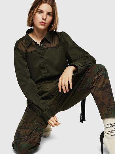 Diesel - P-THENA-A, Verde Camo - Pantaloni - Image 3