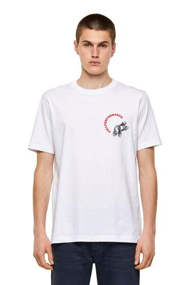 T-shirt Green Label con stampa applicata