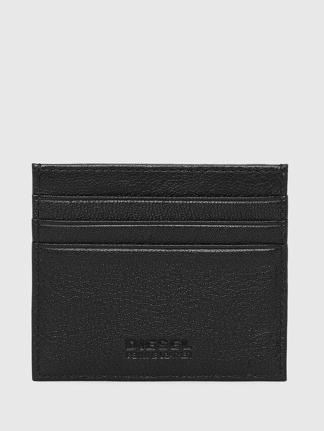 JOHNAS Uomo: Porta carte di credito in pelle pieno fiore   Diesel
