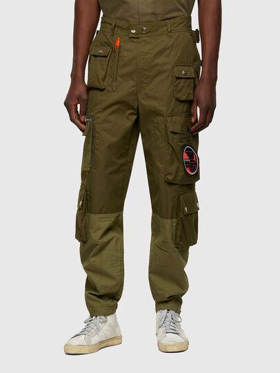 Diesel - P-CYAN, Verde Militare - Pantaloni - Image 1