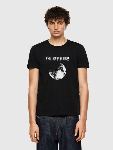 T-shirt Green Label con stampa della Luna