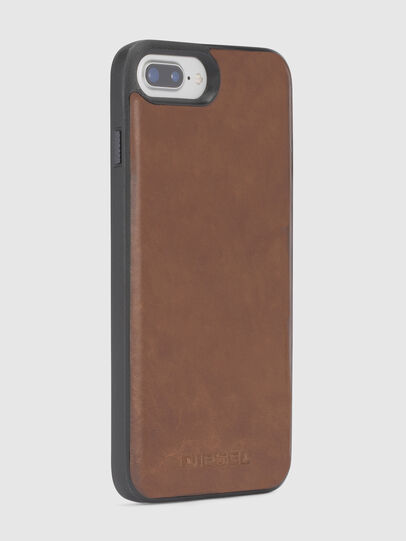 Diesel - BROWN LEATHER IPHONE 8 PLUS/7 PLUS/6s PLUS/6 PLUS CASE, Marrone - Cover - Image 4