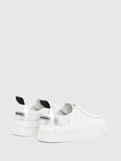 Diesel - S-CLEVER LOW LACE, Bianco/Argento - Sneakers - Image 3