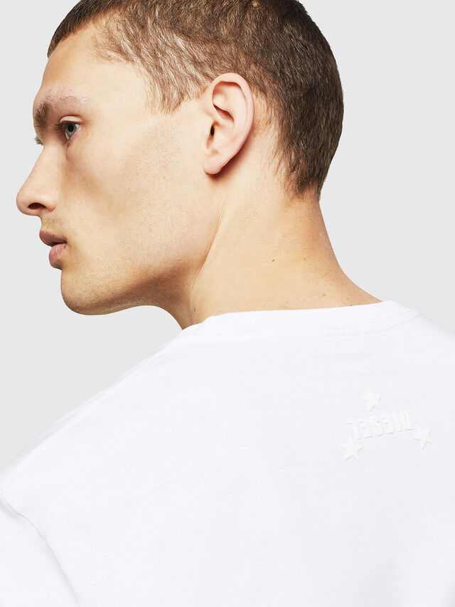 Diesel - T-JUST-A12, Bianco - T-Shirts - Image 3