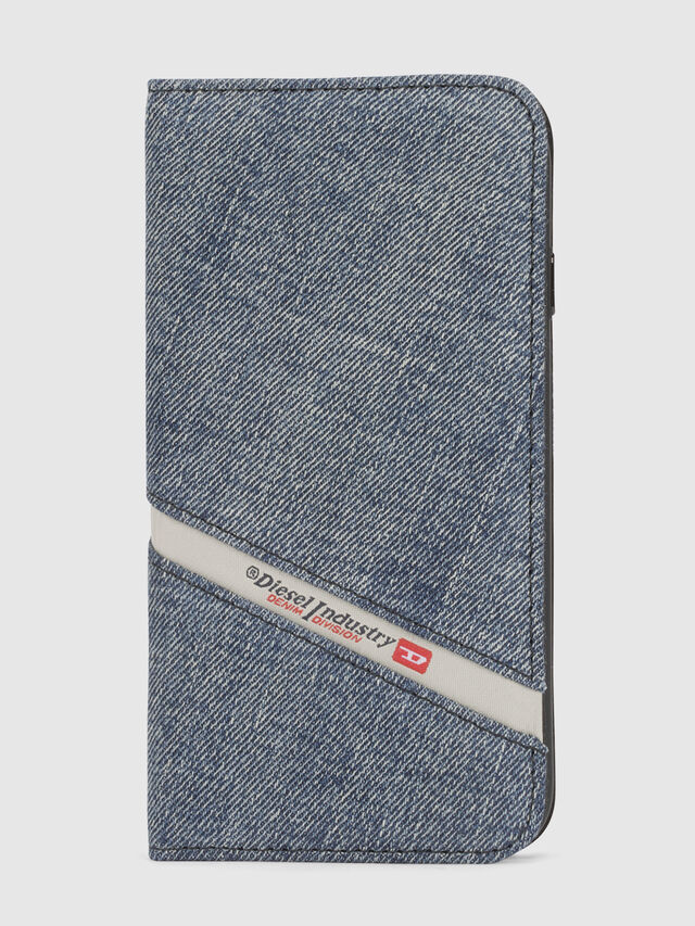 Diesel - DENIM IPHONE X FOLIO, Blu Jeans - Cover a libro - Image 2