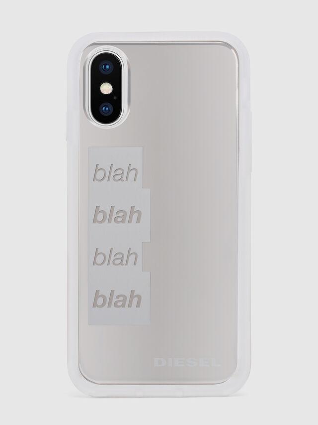 Diesel - BLAH BLAH BLAH IPHONE X CASE, Bianco/Argento - Cover - Image 2