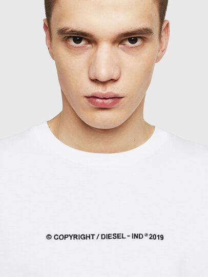 Diesel - T-JUST-LS-COPY, Bianco - T-Shirts - Image 3