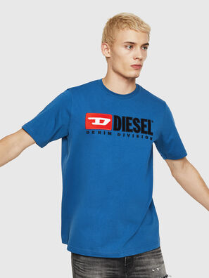 T-JUST-DIVISION, Blu - T-Shirts